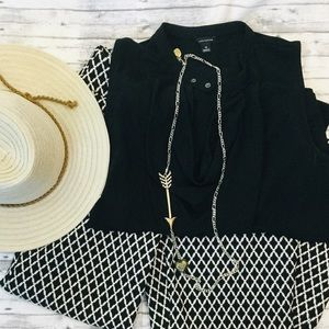 Black sleeveless blouse by Ann Taylor